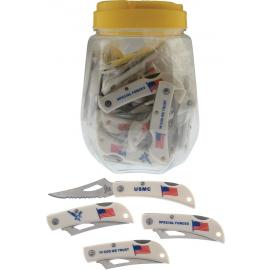 Coltelli assortiti Frost Cutlery Jar American Flag 36 pezzi
