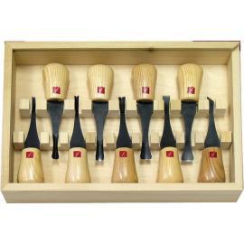 Scalpelli per intaglio legno Flexcut Deluxe Palm Set carving