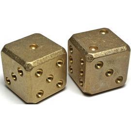 Brass Dice Set