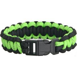 Bracciale di sopravvivenza Knotty Boys Bracelet Blk/Grn Reflective Lg
