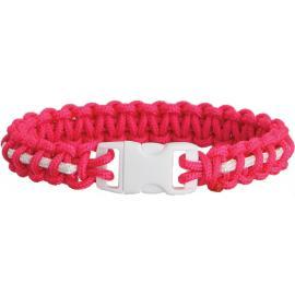 Bracciale di sopravvivenza Knotty Boys Bracelet Pink/Wht Stripe Md