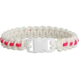 Bracciale di sopravvivenza Knotty Boys Bracelet Wht/Pink Stripe Md