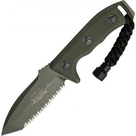 Microtech Currahee T/E Green full serrated