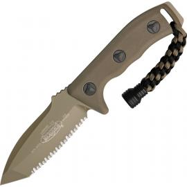 Coltello Microtech Currahee T/E Tan full serrated