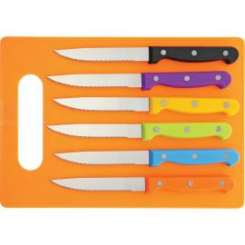 6 pc Steak Knife Set Multi