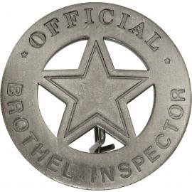 Badges of the Old West - Offical Brothel Inspector
