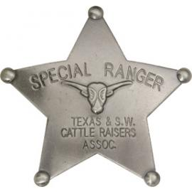 Badges of the Old West - Special Ranger Texas & S.W. Cattle Rais