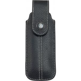 Chic Black Leather Sheath