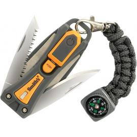 Coltello multitool con Led Smith's Sharpeners Survival Tool Knife Saw