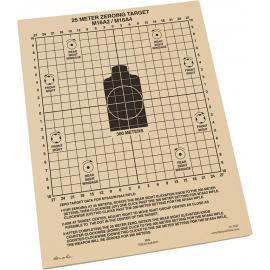 25m Zeroing Target Sheets 100
