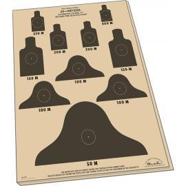 25 fogli Target M16A1 100