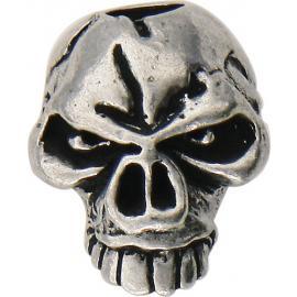 Blocchetto per laccetto Schmuckatelli Co Emerson Skull Bead Pewter