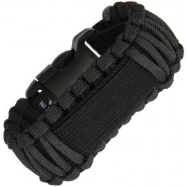 Survco Tactical WATCH BAND BLACK Para Cord Watch Band nero