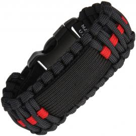 Survco Tactical WATCH BAND RED LINE Para Cord Watch Band linea rossa