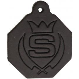 Black Leather Tag- Measures 1