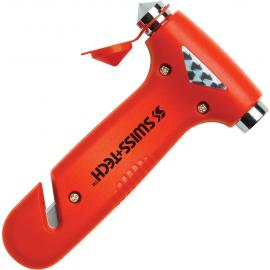 Frangivetro di soccorso con tagliacinture Swiss Tech Emergency Hammer