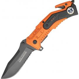 Coltello Tac Force Rescue Linerlock A/O EMT orange and black