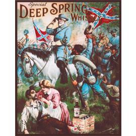 Poster di latta Tin Sign Deep Spring Whiskey Robert E. Lee