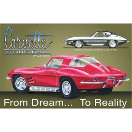 Poster di latta Tin Sign Corvette Stingray
