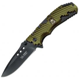 Coltello US Army Liner lock A/O green
