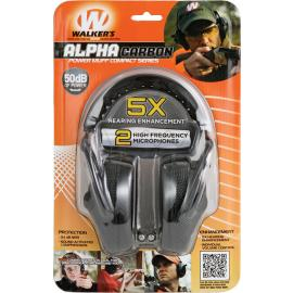 Cuffie per poligono Walkers Game Ear Alpha Carbon power Muffs