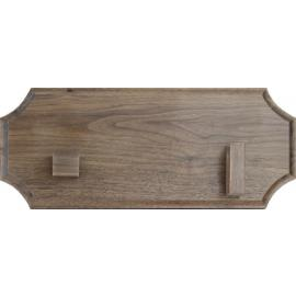 Walnut Bowie Wall Plaque