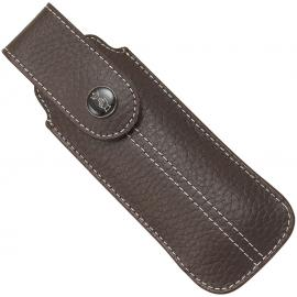 Chic Brown Leather Sheath