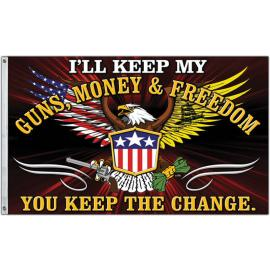 Bandiera Flags Guns - Money & Freedom Flag