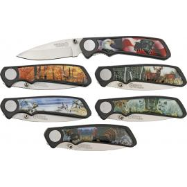 Sei coltelli da collezione American Hunter Wildlife Six P