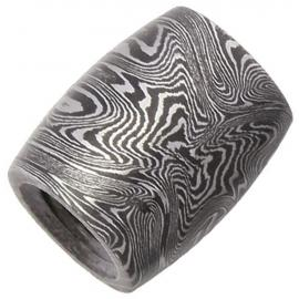 Barrel Damascus Bead