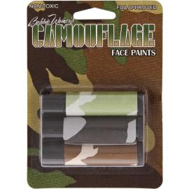 Camouflage Face Paint T3000 (CARDED & BLISTERED) Camo Facepaint bastoni