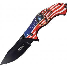 American Flag Linerlock A/O