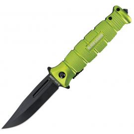 Coltello Black Savage Linerlock A/O lime green