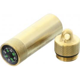 Match Safe with Compass Brass