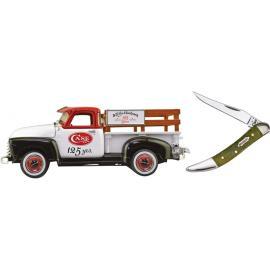 Case Cutlery,Idee regalo e commemorativi,Coltello ed Ertl camion insieme 125th