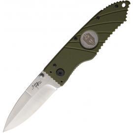 Linerlock Olive Smooth Blade