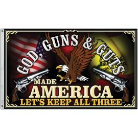 God Guns and Guts Flag