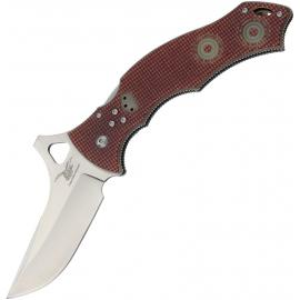 CSSD/SC Bram Frank Design,Coltelli pieghevoli,LLC Bowie Magnum spunta rosso