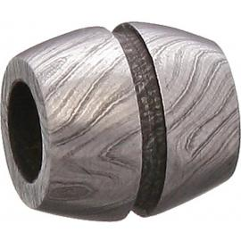 Damascus Bisect Groove Bead