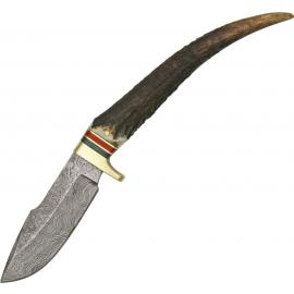 Damascus Stag Grip Hunter