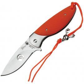 Coltello Elk Ridge Professional Linerlock orange G10