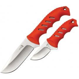 2 coltelli da caccia Elk Ridge lama fissa Orange
